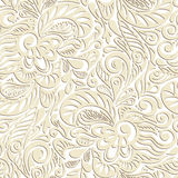 Seamless abstract curly floral pattern Royalty Free Stock Photos