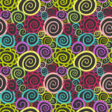 Seamless abstract curly wave pattern Stock Photo