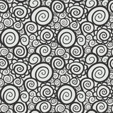 Seamless abstract curly wave pattern Royalty Free Stock Photos