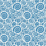 Seamless abstract curly wave pattern royalty free illustration