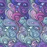 Seamless abstract curly wave pattern Royalty Free Stock Photography