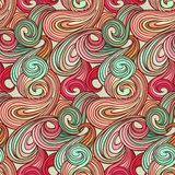 Seamless abstract curly wave pattern Royalty Free Stock Image