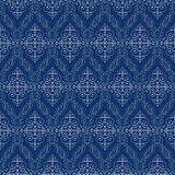 Seamless Abstract Cyan Orient Pattern Stock Images