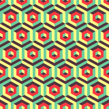 Seamless abstract 3d background with hexagonal Stock Photo