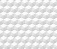 Seamless abstract 3d background made of hexagon structures in white Royalty Free Stock Photos