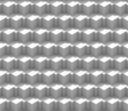 Seamless abstract 3d background pattern made of an array of multilayered cubes in shades of white Stock Image