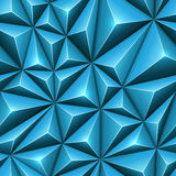 Seamless abstract 3D blue polygonal technology background. Triangular low poly surface backdrop Stock Photos