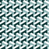 Seamless abstract 3d construction block pattern. Background stock illustration
