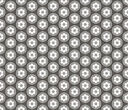 Seamless abstract 3D pattern - ceiling lamps in the shape of flowers. Color gray - middle tone. Vector illustration stock illustration