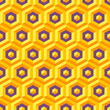 Seamless abstract 3d texture with hexagonal Royalty Free Stock Photography