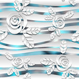 Seamless abstract 3D white spheric background Royalty Free Stock Images