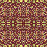 Seamless Abstract Decorative Brown Pattern Royalty Free Stock Photography