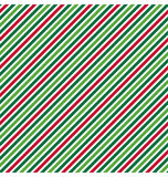 Seamless Abstract Diagonal Line Pattern in Christmas Colors Stock Images