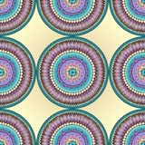 Seamless abstract doodle flower pattern in vector Royalty Free Stock Photography