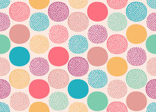 Seamless abstract dots circles pattern Royalty Free Stock Images