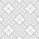 Seamless abstract elegant floral pattern Stock Photos