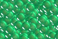 Seamless abstract emerald spheres and bubbles geometry design Royalty Free Stock Photography