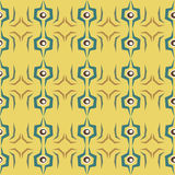 Seamless abstract eye pattern on yellow background Royalty Free Stock Photos