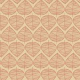 Seamless abstract fall leaves vector background. Subtle floral stylish pattern. Vector repeating texture stylized leaves on beige. Seasonal fall design for stock illustration
