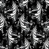 Seamless With Abstract Feathers Royalty Free Stock Photography