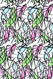 Seamless abstract fish background pattern. Based on hand drawing watercolor Stock Photo