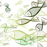 Seamless abstract fish illustrations background. Surface, details, digital & template. Seamless abstract fish illustrations background. Cartoon style vector Royalty Free Stock Image
