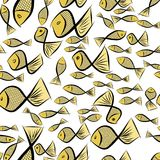 Seamless abstract fish illustrations background. Design, color, sketch & shape. Seamless abstract fish illustrations background. Cartoon style vector graphic Stock Photo