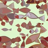 Seamless abstract fish illustrations background. Effect, style, concept & backdrop. Seamless abstract fish illustrations background. Cartoon style vector Royalty Free Stock Images