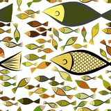 Seamless abstract fish illustrations background. Water, cover, vector & style. Seamless abstract fish illustrations background. Cartoon style vector graphic Royalty Free Stock Photography