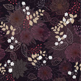 Seamless abstract floral background. Seamless dark abstract floral background Royalty Free Stock Image