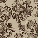 Seamless abstract floral background. Handdrawn illustration for design Stock Image