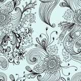 Seamless abstract floral background. Hand drawn illustration for design Royalty Free Stock Photography
