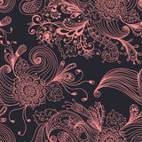 Seamless abstract floral background. Hand drawn illustration for design Stock Image