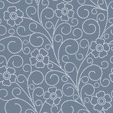Seamless abstract  floral   background. Seamless blue abstract  floral   background Stock Photography