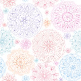 Seamless abstract floral background. Seamless abstract floral multicolored  background Royalty Free Stock Photo