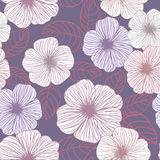 Seamless abstract floral background Stock Images