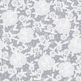 Seamless abstract floral background. Seamless grey abstract floral background Stock Image