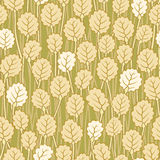 Seamless abstract floral background. Seamless abstract yellow beige leaf floral background Stock Illustration