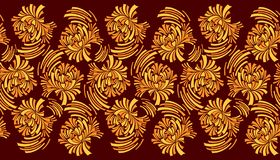 Seamless abstract floral border royalty free stock photography