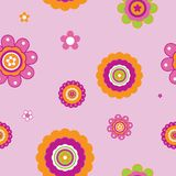 Seamless abstract floral design. Seamless abstract pink floral design Royalty Free Stock Image
