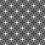 Seamless abstract floral geometric vector pattern Stock Images