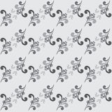 Seamless Abstract Floral GrayScale Pattern Stock Photography