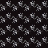 Seamless Abstract  Floral Grayscale Pattern Stock Photos