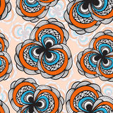 Seamless abstract floral pattern Stock Images