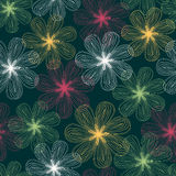 Seamless abstract floral pattern Royalty Free Stock Images