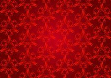 Seamless abstract floral pattern background, red Stock Photography