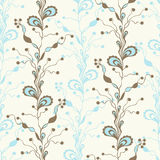 Seamless abstract floral pattern. Doodle style. Textile fashion design. Royalty Free Stock Photo