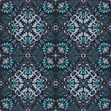 Seamless abstract floral pattern for fabric Stock Image