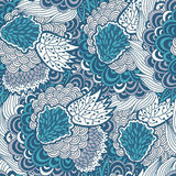 Seamless abstract floral pattern with  flower elements Stock Photos