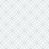 Seamless abstract floral pattern. Geometric ornament on a white background. Seamless abstract floral pattern. Geometric flower ornament on a white background stock illustration